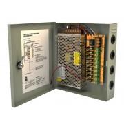 Sursa alimentare 12V-5A 9 iesiri in cutie metalica
