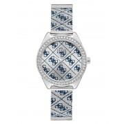 Guess Analoog Horloge 4G Logo Overal - Zilver - Size: T/U