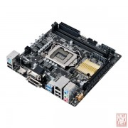 Asus H110I-PLUS, Intel H110, VGA by CPU, PCI-Ex16, 2xDDR4, SATA3, VGA/DVI/HDMI/USB3.0, mini-ITX (Socket 1151)