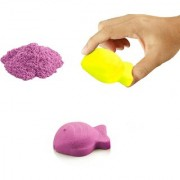 UNTOLD 750GM MAGIC SAND   COLORFUL SAND WITH 3 PIECE MOLDS - PINK COLOR