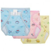 Small baby Outside Printed PVC Plastic Waterproof Diaper/Langot for 6-12 Months pack of 3 (Assorted color Design)