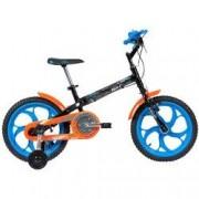 Caloi Bicicleta Caloi Hot Wheels - Aro 16 - Freio Cantilever - Infantil - PRETO/AZUL