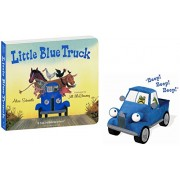 """Little Blue Truck Toy Trucks 8.5"""" And Hardcover Book Plush Toy Truck That Goes Beep Beep Beep"""