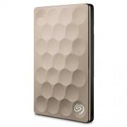 STEH2000201 BSeagate Backup Plus Ultra Slim STEH2000201 Externe harde schijf, 2 TB, draagbaar, inclusief 200 GB cloud opslag en back-up mogelijkheden voor mobiele apparaten, USB 3.0, geschikt voor PC & MAC, goud