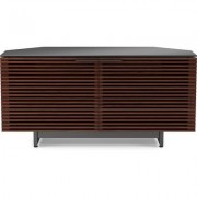 BDI Corridor 8175 Corner Media Cabinet in Chocolate Stained Walnut