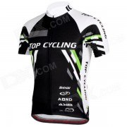 TOPCYCLING SAD209 Ropa de Jersey de cortocircuito de los hombres al aire libre de ciclo rapido - negro + blanco (tamano XXL)