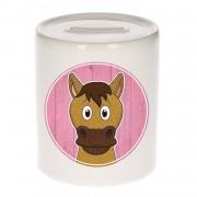 Vrolijke paard dieren spaarpot 9 cm - paarden - spaarpotten voor kinderen