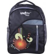 UNITY BAGS Polyester School Bag |Shoulder Backpacks | Casual Bag for Girls & Boys 35 L Backpack(Black)