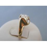 Zlatý dámsky prsteň žlté zlato zirkón VP54442Z 14 karátov 585/1000 4.42g