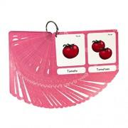 MagiDeal Pocket Educational Flash Cards Flashcards for School Classroom Or Homeschool - 70Pcs Card- Pluras, 13.6x9.2cm