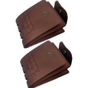 New Vintage Pack of 2 Style Men Leatherlite Bifold Wallet.