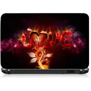 VI Collections LOVE FLAMES PVC Laptop Decal 15.6