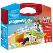 Комплект Плеймобил 5653 - Ветеринар с инструменти в куфарче, Playmobil, 2900082