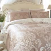 Lenjerie de pat SERRA SATIN pentru 2 persoane 4 piese 200x220 / 50x70 100 bumbac satinat multicolor