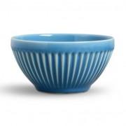 Porto Brasil Bowl Plissé Cerâmica Azul Porto Brasil