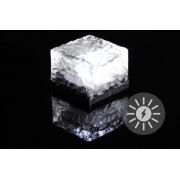 Kerti napelemes világítás - üveg kocka - 7 x 5 cm