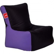 Sicillian Bean Bags Bean Chair - Size Xl - Without Fillers - Cover Only (Black & Lavender)