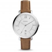 Reloj Fossil ES3708 Dama Jacqueline Brown Leather -Café / Plateado