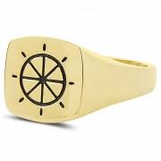 Northern Jewelry Schiffskapitän Steuerrad 925er Goldring
