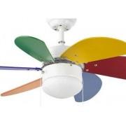 Faro Ceiling Fan, Children, 81 Cm. With Integrated Light Faro, Multicolor Palao 33180