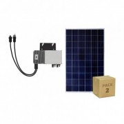 efectoled.com Pack Paneles Fotovoltaicos Policristalinos 320W BYD Clase A + Microinversores 600 W 1 Microinversor + 2 Paneles