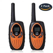 [Upgrade Version] Walkie Talkies for Kids, Waltsom T628 22 Channel FRS Toy 2 Way Radio up to 3Km Handheld Talky Camping/ Summer Camp/ Spring Outdoor Activities (Orange)