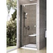 Ravak Pivot PDOP1-90 egyrészes kifelé nyíló zuhanyajtó szatén kerettel, transparent edzett biztonsági üveg betéttel 03G70U00Z1
