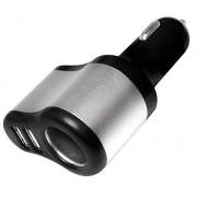 Caricatore da Auto a due Porte USB con Presa Accendisigari