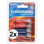 Grundig 8x AA penlites batterijen