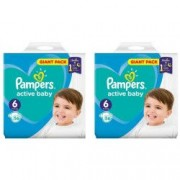 Scutece Pampers Active Baby Nr. 6 13-18 Kg 2 x 56 Buc. 112 buc. Gigant Pack