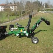 ATV SPIDER bager, pokop, rýpadlo s lyžicou Geo ATV 9 HP