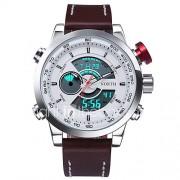 Heren Sporthorloge Militair horloge Modieus horloge Polshorloge Kwarts LED Kalender Waterbestendig Dubbele tijdzones Lichtgevend Stopwatch