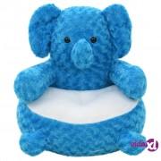 vidaXL Mekani plišani slon plavi