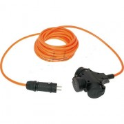 Verlengsnoer PUR kabel 3x2,5mm² 3-voudig 10M oranje
