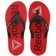 Reebok Mens Red Black Slippers