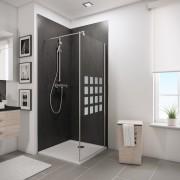 Schulte Home Paroi latérale pour porte de docuhe pivotante 90 cm, anticalcaire