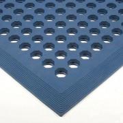 Modrá olejivzdorná protiskluzová protiúnavová průmyslová rohož (38% nitrilová pryž) - 150 x 90 x 1,2 cm FLOMAT
