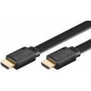Cablu HDMI tata la HDMI tata cu ethernet 2m contacte aurite cablu plat negru