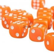 Alcoa Prime 50 x 12mm Opaque SixSided Spot Dice Games D6 D&D RPG NEW Playing Dice Orange
