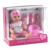 Baby Dribbles pisilő baba kiegészítőkkel - 25 cm