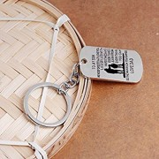 Tradico® to My Son Pendant Dog Tag Kerychain I Believe in You Keyrings Family's Gifts