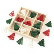CreativeHobby Filcowe dekoracje świąteczne 45 szt. - CHOINKI - choinki