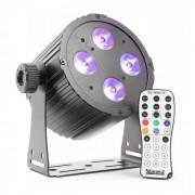 Beamz BAC404 ProPar Foco LED 4x18W 6-1 HEX DMX IR negro (Sky-151.300)