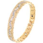 BeBold Bio Magnetic Gold Stainless Steel Cross Line New Bracelet for Men Boys