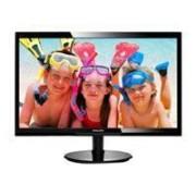 Philips Ecran plat 24, matrice active TFt, résolution 1920X1080, luminosité 250 cd/m², contraste 10 000 000:1, temps de réponse 5 ms, angle de vision 170/160°, interfaces VGA/DVI, couleur noir