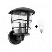 Eglo 93097 - LED Aplică perete exterior ALORIA 1xE27/9W/230V