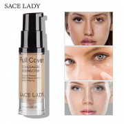 SACE LADY Face Concealer Cream Full Cover Makeup Liquid Corrector Foundation Base Make Up For Eye Dark Circles Facial Cosmetic