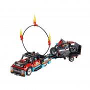 Camion si motocicleta pentru cascadorii LEGO Technic