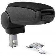 [pro.tec]® Специализирана облегалка за ръце за марка автомобили AUDI A4 B6/B7 Подлакътник с контейнер за съхранение текстил - черен