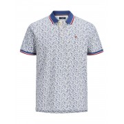 Jack and Jones Jprbluwin Polo Ss Aop - wit - Size: Large